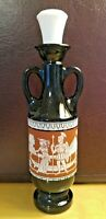Vintage Jim Beam Brown Glass Egyptian Cleopatra Liquor Decanter Bottle - 1960s