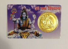 SACRED SHIVA BLESSED YANTRA COIN CARD - MANTRA CHARGED - POWER HEALTH PROTECTION