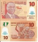 NIGERIA 10 NAIRA 2015 PICK 39 LOTE DE 5 BILLETES