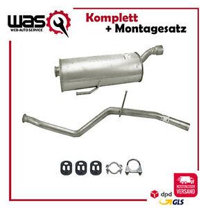 Komplette Auspuffanlage Auspuff ab Kat Peugeot 206 1.4i Fließheck Schalldämpfer