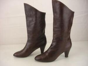 Shoe Booties Black Vintage 1980s Charles Jourdan Black Suede Leather Heeled Booties Mary Janes Shoes size 8 12
