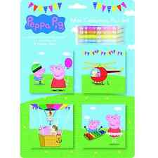 PEPPA PIG MINI ALBUM DA COLORARE Pad Set Matita Pastelli FOGLI ADESIVI PARTY PACK