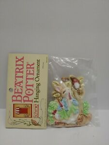 Schmid Beatrix Potter PETER RABBIT Christmas Ornament 1987 NEW Sealed NOS Rare