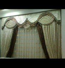 curtains desinge  drapery custom made TASSEL valances fabrics swag