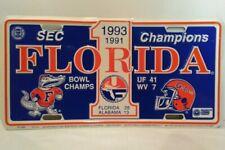 Vintage Florida Gator Alabama SEC Champions 1993/91 License Plate