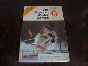 Olympic Winter Games XIV -Sarajevo--1984-- Fold Out Poster, Multi sd--21x32--HTF