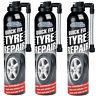 3 x 300ml Quick Fix Tyre Emergency Temporary Puncture Sealant Wheel Repair Car