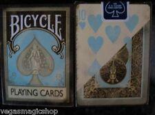 Dirty Aqua Creme 2 Deck Set +Vintage Case Bicycle Playing Cards Poker Size USPCC