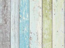 Vliestapete Holz-Optik Planken Bretter grün blau AS Creation 8550-77 (2,16?/1qm)