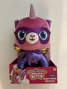 "Rainbow Butterfly Unicorn Kitty 14"" Mighty Meow Felicity Plush Doll Toy Plush"