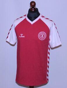 Denmark National Team retro home football cotton shirt 84/85 Hummel Size XL