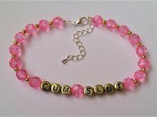 Bracelet Jewellery / Hotwife Qos Jos Rg Cum Slut Handmade Beaded Anklet / Ankle