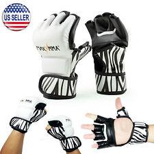 MaxxMMA MMA Grappling Gloves - Zebra Pattern