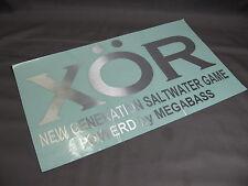 Megabass. XOR Decals. 300mm x 180mm, Silver. NIP