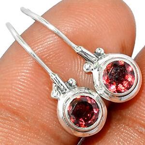 Garnet 925 Sterling Silver Earring Jewelry BE1274 258B