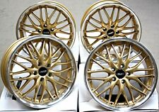 "18"" ALLOY WHEELS 5X112 18 INCH ALLOYS CRUIZE 190 GDP GOLD LIP POLISHED DEEP DISH"
