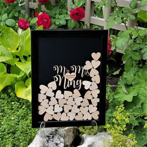 Personalized custom Name & Date Drop Box Sign Wedding Guest Book Alternative