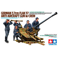 Tamiya 35302 German 3.7cm Flak 37 Anti-Aircraft Gun w/Crew 1/35
