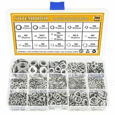 Sutemribor 304 Stainless Steel Flat Washer and Lock Washer Assortment Set 700 Pi