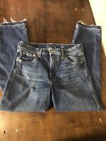 Lucky Brand Women's Mid Rise Authentic Straight Crop Victoria Style Size 4/27