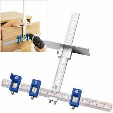 Drillpro Aluminum Alloy inch/mm Cabinet Hardware Jig for Handles and Knobs Door