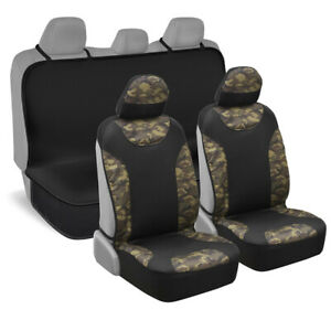 Waterproof Neoprene Two Tone Side-less Seat Cover and Bench Cover Set - Camo