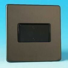 Varilight Fan Isolating Switch (3 Pole) Screwless Iridium Black
