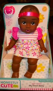 """Honestly Cute My Sweet Baby African American Baby Doll 14""""H New"""