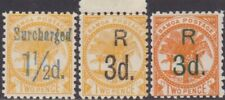 Samoa 1896 & 1900 P11 Surcharged Definitive 1.1/2d & 3d MH & MNG Stamps SG78/80