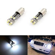 2PCS BA9S h6w Car No Error LED Parking Light Bulbs For Mercedes W210 E55 AMG