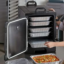 5 Pan Black Insulated Food Carrier Box Commercial Catering Dish Warmer Cooler