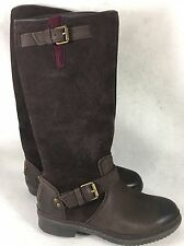 UGG THOMSEN 1005268 WATERPROOF TALL BOOTS LEATHER SUEDE Stout Brown size 5