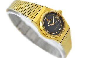 Vintage Rado Shangri-la Gold Plated Automatic Ladies Petite Watch 1676