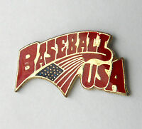 MLB MAJOR LEAGUE BASEBALL USA LAPEL PIN 3/4 inch