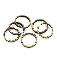 50 Anneaux de double jonction Bronze 10 mm creation bijoux, porte cle, 10mm