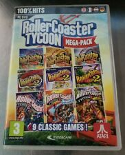 Rollercoaster Tycoon Mega-Pack 9 PC Games (2016) Win 10/8/7 **FREE SHIPPING**