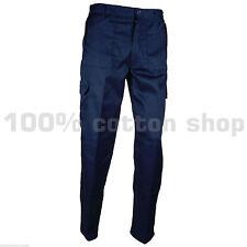"Size 38"" Waist REG Leg Baratec NAVY Mens Cargo Work Trousers Pants Pockets New"