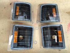 94-99 Chevy Suburban Tahoe Silverado Truck C10 4pc Corner Black Amber Reflector