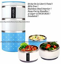 Cookinex Wide Mouth 3 Layer LUNCH BOX Stainless Steel Food Jug Flask Jar Thermos