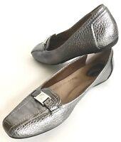 Giani Bernini Flats Snake Like Upper Silver Pewter Memory Cushion Women 8 Comfy