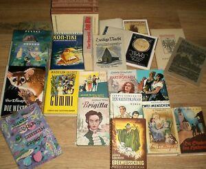 Paket 24 alte/ältere Bücher! 50er Jahre Dekobücher Hardcover Dekorative Optik!