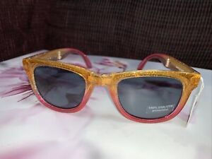 JUSTICE FOLDABLE SUNGLASSES SHIMMERING GOLD/RED SUMMER ACCESSORY SUPER CUTE!!