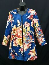 3 Sisters Navy Floral jacket. S-L. New with tags.