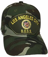 City Of Los Angeles BOSS Hat Color Camo Adjustable