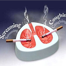 White & Red Coughing Screaming Lung Ashtray QUIT SMOKING Cigarette Ashtray