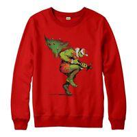 Hulk Christmas Jumper, Marvel Hulk Xmas Tree Festive Adult & Kids Jumper Top