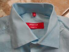 EA0160 ETERNA REDLINE Hemd 39 Mintblau meliert Ohne Muster