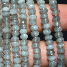 New 2x4mm natural gray Apatite Abacus Gemstones Loose Beads 15 inch