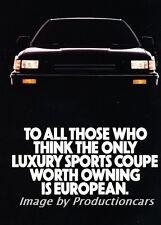 1987 Acura Legend Coupe Original 4-page Advertisement Print Art Ad J758