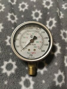 Graco 102814 Liquid Filled Pressure Gauge 0-5000 PSI